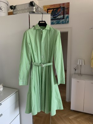 Ralph Lauren Shirtwaist dress natural white-green cotton