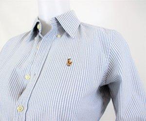 Orig. Polo Ralph Lauren Slim-Fit Oxfordhemd / Hellblau / gestreift /100% Baumwolle / Gr.XS-34, US 2 / HERVORRAGEND!
