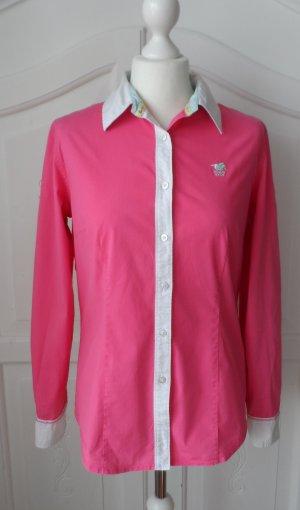 orig. Polo Sylt Bluse Gr. XL (38/40) Pink Weiß wenig getragen