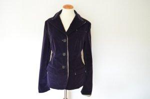 Prada Blazer court violet foncé tissu mixte