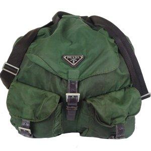 Prada Shoulder Bag dark green nylon