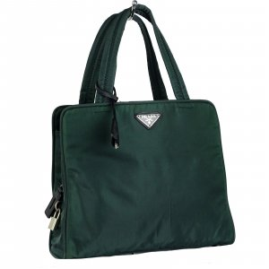 Prada Carry Bag dark green nylon