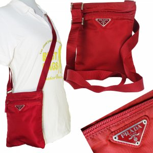 Prada Crossbody bag neon red nylon