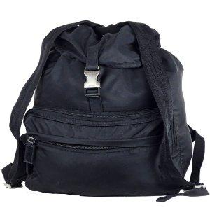 Prada Sac à dos pour ordinateur portable noir