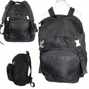 Prada Trekking Backpack black nylon