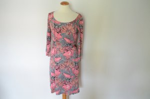 ORIG. PRADA Seidenjersey Kleid im Sixties Style mit Gürtel IT 42 D 36