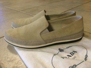 orig. Prada Slipper Gr. 37 (eher 38) Slip On Sneaker Schuhe beige NEUw NP450€