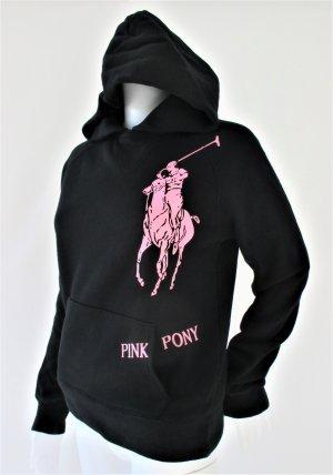 Ralph Lauren Jersey con capucha negro-rosa Algodón