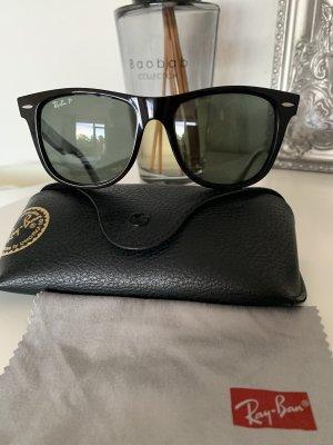 Orig RAY BAN WAYFARER Neu schwarz polarisiert Sonnenbrille Brille