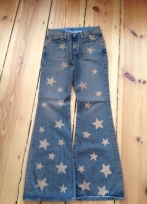 Orig. Replay Flare Jeans Limitiert Sonderedition Star Print Stern Stars Star Bootcut Gr. 29 Hippie
