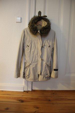 Orig. REPLAY Parka Mantel Jacke Parka / Gr. M in beige / Winterjacke