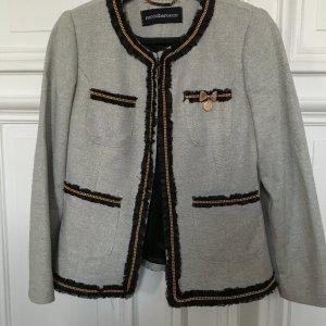 Orig. Roccobarocco Italy Jacke Blazer Jackett im Chanel style Kette Gold Spitze
