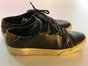 Orig. Saint Laurent Sneaker schwarz mit Leo, Gr. 36.5 YSL