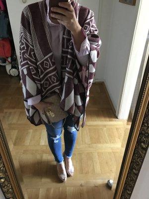 Orig SARA MARTIGNONI lala ethno Blogger Berlin Poncho Cape Schal neu
