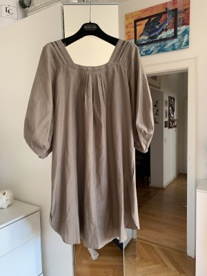 Schumacher Vestido Hippie marrón grisáceo Seda