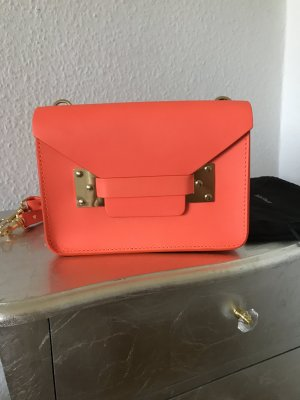 Orig SOPHIE HULME Tasche Crossbody Clutch Milner Envelope neon orange Blogger