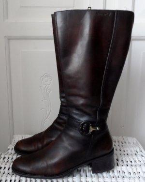 Tamaris Botas estilo militar marrón oscuro Cuero