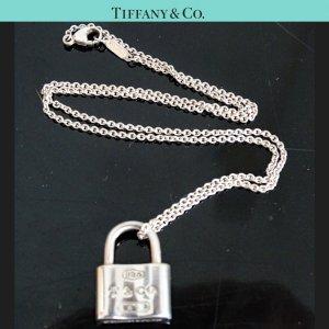ORIG TIFFANY & Co. 1837 KETTE mit SCHLOSS-ANHÄNGER 925 Silber lock chain / GUTER ZUSTAND