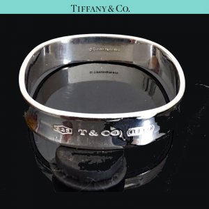 ORIG. TIFFANY & CO 1837 SQUARE ARMREIF BANGLE NEUES MODELL 925 SILBER / TOP