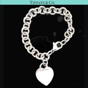 ORIG. TIFFANY & Co. ARMBAND MIT HERZ-ANHÄNGER 925 STERLING Silber Bracelet / SEHR GUTER ZUSTAND