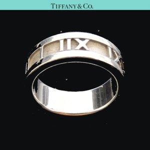 ORIG TIFFANY & Co. ATLAS RING 925 Sterling Silber EU51 US5,7 / GUTER ZUSTAND