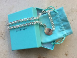 "Orig Tiffany & Co. enganliegende Halskette aus der Please return to Tiffany & Co. Kollektion, Modell ""Oval Tag Choker"""