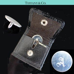 ORIG. TIFFANY & Co. GOLF STYMIE MARKER BALLMARKER in LEDER-ETUI Silber personal. A