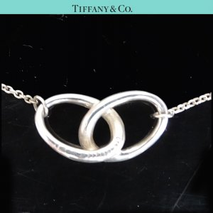 ORIG. TIFFANY & Co. PERETTI 2 RINGS KETTE LIEBE TREUE 925 Silber / GUT