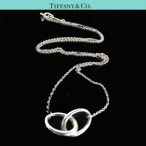 ORIG TIFFANY & Co. PERETTI 2 RINGS KETTE LIEBE TREUE 925 Silber / GUTER ZUSTAND