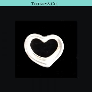 ORIG. TIFFANY Co. PERETTI OPEN HEART HERZ-ANHÄNGER SMALL CHARM 925 Silber / SEHR GUTER ZUSTAND