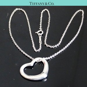 ORIG TIFFANY & Co. PERETTI OPEN HEART KETTE mit HERZ-ANHÄNGER LARGE 925 Silber