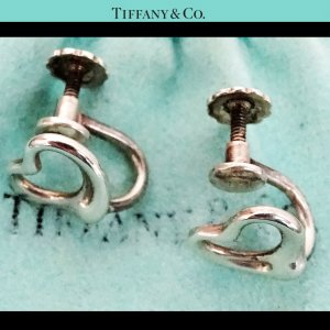 Tiffany&Co Silver Earrings silver-colored real silver