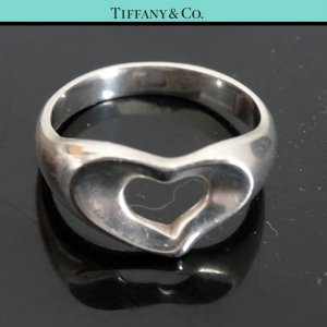 ORIG TIFFANY & Co. PERETTI OPEN HEART RING 925 Sterling Silber EU49 US5,7 / GUTER ZUSTAND