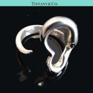 ORIG TIFFANY & Co. PERETTI OPEN HEART RING 925 Sterling Silber EU51 US5,7 /GUT