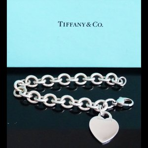 ORIG TIFFANY & Co. RETURN TO ARMBAND MIT HERZ-ANHÄNGER 925 Silber MASSIV / TOP