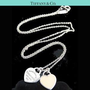 ORIG. TIFFANY & Co. RETURN TO KETTE mit 2 ANHÄNGERN 925 Silber chain / GUTER ZUSTAND