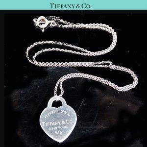 ORIG. TIFFANY & Co. RETURN TO KETTE mit HERZ-ANHÄNGER 925 Silber chain / GUTER ZUSTAND