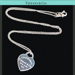 ORIG TIFFANY & Co. RETURN TO KETTE mit HERZ ANHÄNGER 925 Silber chain /SEHR GUT