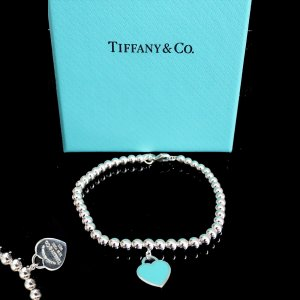ORIG TIFFANY & Co. RETURN TO TIFFANY ARMBAND KUGELN mit HERZ 925 Silber /TOP