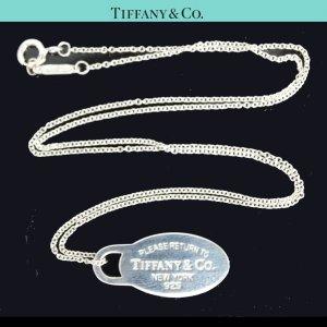ORIG. TIFFANY Co. RETURN TO TIFFANY HALS-KETTE mit ANHÄNGER 925 Silber chain GUTER ZUSTAND