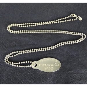 ORIG. TIFFANY & Co. RETURN TO TIFFANY HALSKETTE DOG TAG 925 Silber chain /SEHR GUTER ZUSTAND