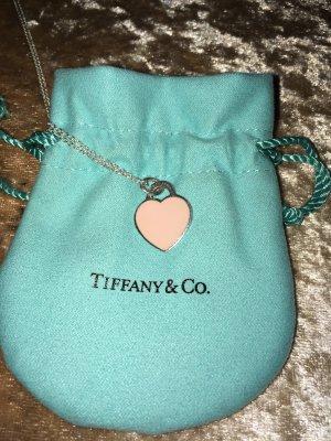 Orig Tiffany Herz Anhänger rosa Gr. S