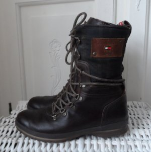 Tommy Hilfiger Boots dark brown leather