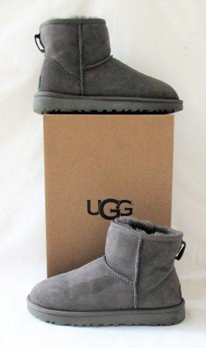 Orig. UGG Ankle Boots Classic Mini II/Grau/Lammfell/wie NEU!