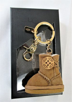 UGG Australia Key Chain camel-gold-colored leather