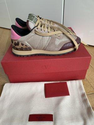 Orig VALENTINO GARAVANI Rockrunner Sneaker 36 wNeu pony pink rockstud 36,5 Fell Leopard 580€