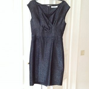 Orig. Viktor & Rolf little black dress elegant Kleid schwarz metallic Etuikleid