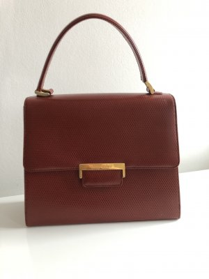 Orig. YSL Yves Saint Laurent Handtasche Leder Ledertasche Vintage Logo Monogram Bag