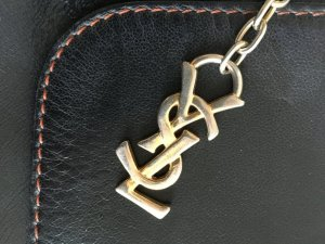 Orig. YSL Yves Saint Laurent Handtasche Tasche logo cut out monogram crossbody