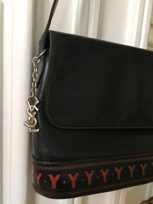 "Orig. YSL Yves Saint Laurent Handtasche Tasche ""Y"" logo cut out monogram crossbody"